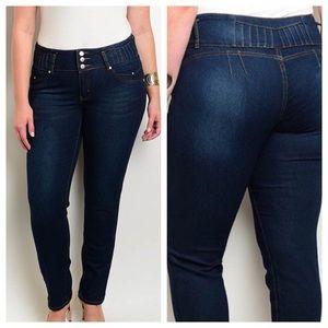 ➕ Dark Wash Denim Jeans